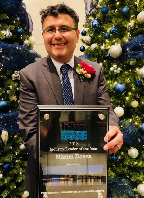 Nizam Dossa, the Vice-President and Associate Broker of Assertive Northwest Property Management Group has been Selected as the Industry Leader of the Year for 2018 by PAMA